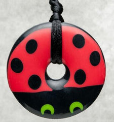 Ladybug, Teething Bling Necklaces, www.bellylaughs.ca