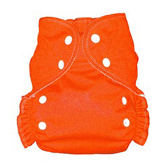 Tangerine, AMP Onesize Duo Pocket Diaper, www.bellylaughs.ca
