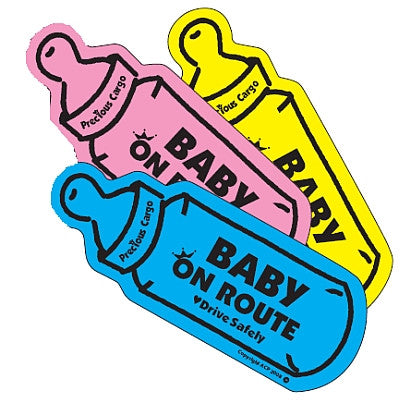 Baby On Route Car Magnet