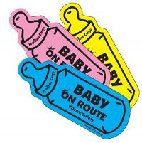 , Baby On Route Car Magnet, www.bellylaughs.ca