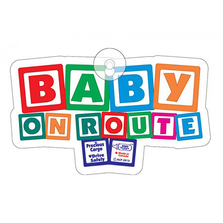 Baby on Route Suction Cup