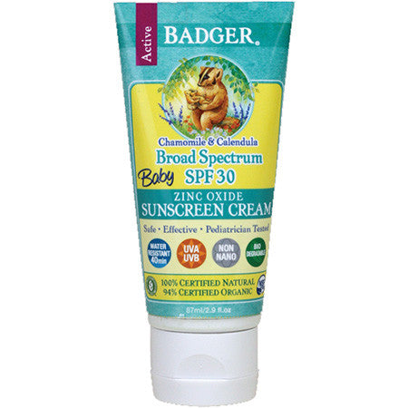 Badger SPF 30 Baby Sunscreen 87ml