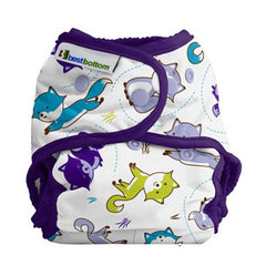 Foxy Frolic, Best Bottom Cloth Diapers, www.bellylaughs.ca
