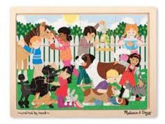 12 piece / Best Friends, Melissa & Doug Wooden Jigsaw Puzzles, www.bellylaughs.ca
