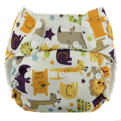 Jungle Jam, Blueberry One Size Simplex All-In-One Diaper, www.bellylaughs.ca