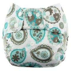 Paisley, Blueberry One Size Simplex All-In-One Diaper, www.bellylaughs.ca