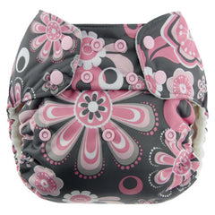 Petals, Blueberry One Size Simplex All-In-One Diaper, www.bellylaughs.ca