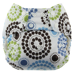 Roundabout, Blueberry One Size Simplex All-In-One Diaper, www.bellylaughs.ca