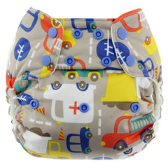 Traffic, Blueberry One Size Simplex All-In-One Diaper, www.bellylaughs.ca
