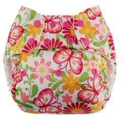 Butterflies, Blueberry One Size Simplex All-In-One Diaper, www.bellylaughs.ca