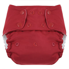 Red, Blueberry One Size Simplex All-In-One Diaper, www.bellylaughs.ca