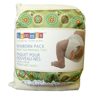 Bummis Newborn Prefold Pre-pack - Belly Laughs - Maternity, Baby and Kids Store Canada