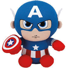 Captain America, Ty Beanie Babies, www.bellylaughs.ca