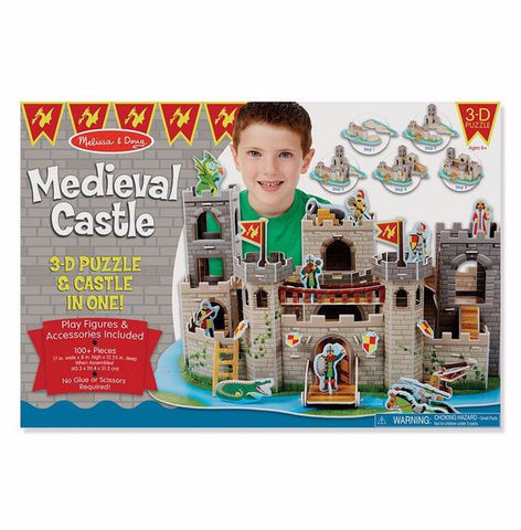 Melissa and Doug Medieval Castle 3D Puzzle and Play Set