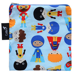 Superhero Boy, Colibri Large Reusable Snack Bags, www.bellylaughs.ca