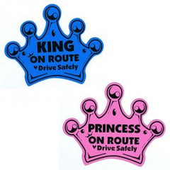 King On Route, Baby On Route Car Magnet, www.bellylaughs.ca