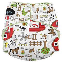 Imagine All in One Bamboo Diaper Barnyard Jam - Belly Laughs - A Children's & Maternity Boutique - Canada - 1