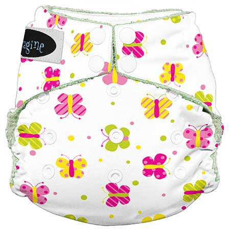Imagine All in One Bamboo Diaper Flutter - Belly Laughs - A Children's & Maternity Boutique - Canada - 4