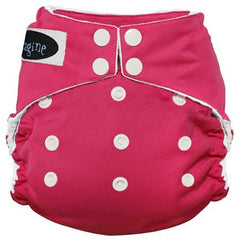 Imagine All in One Bamboo Diaper Raspberry - Belly Laughs - A Children's & Maternity Boutique - Canada - 11