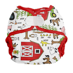 Barnyard Jam / Aplix, Imagine Newborn Diaper Cover, www.bellylaughs.ca