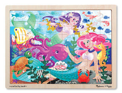48 piece / Mermaid Fantasea, Melissa & Doug Wooden Jigsaw Puzzles, www.bellylaughs.ca