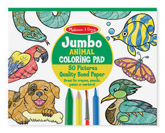 Animals, Melissa & Doug Jumbo Coloring Pads, www.bellylaughs.ca