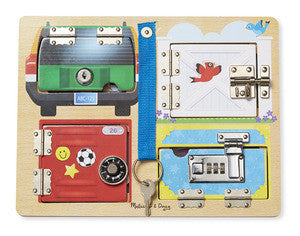 Melissa & Doug Lock & Latch Board  - Belly Laughs - A Children's & Maternity Boutique - Canada