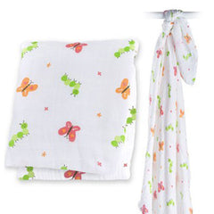 Garden Party, Lulujo Muslin Swaddle Wrap, www.bellylaughs.ca