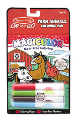 Farm Animals, Melissa & Doug Magicolour Colouring Pad, www.bellylaughs.ca