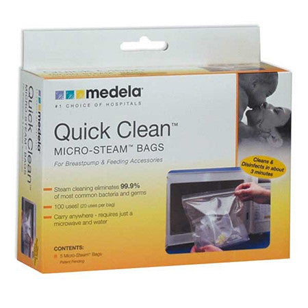 Medela Quick Clean Steam Bag  - Belly Laughs - A Children's & Maternity Boutique - Canada