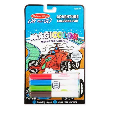 Adventure, Melissa & Doug Magicolour Colouring Pad, www.bellylaughs.ca