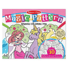Pink, Melissa & Doug Magic-Pattern Marker Coloring Pad, www.bellylaughs.ca