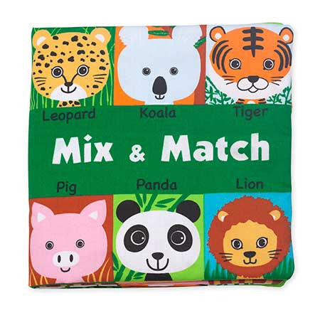 K's Kids Soft Activity Book - Mix & Match