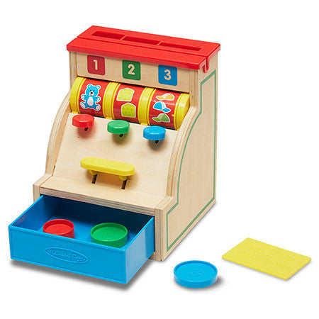Melissa & Doug Sort & Swipe Wooden Cash Register  - Belly Laughs - A Children's & Maternity Boutique - Canada - 1