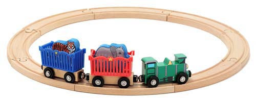 , Melissa & Doug Wooden Zoo Animal Train Set, www.bellylaughs.ca