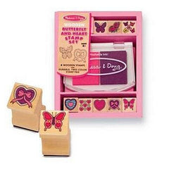 Melissa & Doug Butterfly and Heart Stamp Set  - Belly Laughs - A Children's & Maternity Boutique - Canada - 1