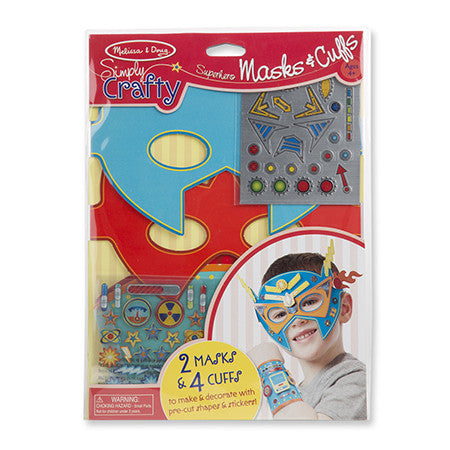 Melissa & Doug Simply Crafty - Superhero Masks & Cuffs