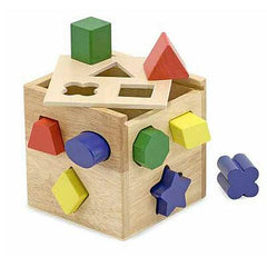 , Melissa & Doug Shape Sorting Cube, www.bellylaughs.ca