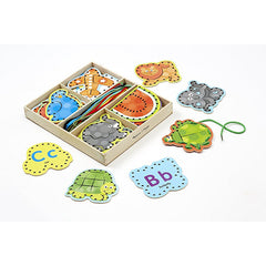 , Melissa & Doug Alphabet Lacing Cards, www.bellylaughs.ca