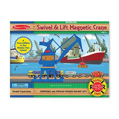 Melissa & Doug Swivel & Lift Magnetic Harborside Crane  - Belly Laughs - A Children's & Maternity Boutique - Canada - 1