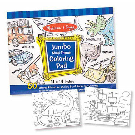 Blue Boy, Melissa & Doug Jumbo Coloring Pads, www.bellylaughs.ca