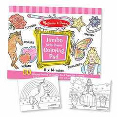 Pink Girl, Melissa & Doug Jumbo Coloring Pads, www.bellylaughs.ca