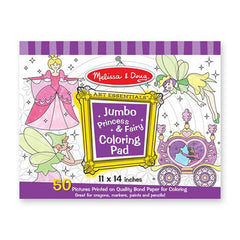 Princess and Faries, Melissa & Doug Jumbo Coloring Pads, www.bellylaughs.ca