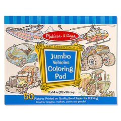Vehicles, Melissa & Doug Jumbo Coloring Pads, www.bellylaughs.ca