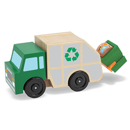 , Melissa & Doug Garbage Truck Wooden Vehicle, www.bellylaughs.ca