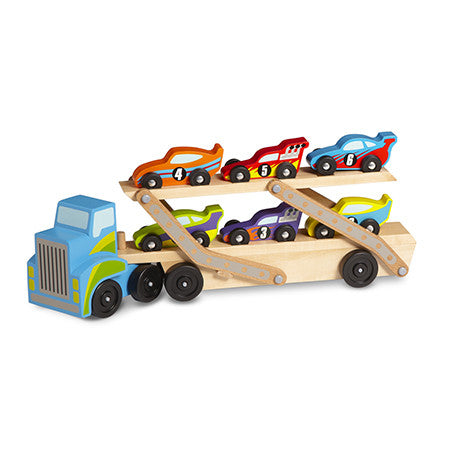 Melissa & Doug Mega Race Car Carrier  - Belly Laughs - A Children's & Maternity Boutique - Canada - 1