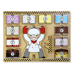 Baker and Cakes, Melissa & Doug Stacking Chunky Puzzle, www.bellylaughs.ca