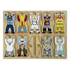 Occupations, Melissa & Doug Stacking Chunky Puzzle, www.bellylaughs.ca