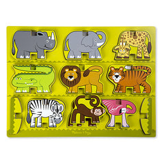 Safari, Melissa & Doug Stacking Chunky Puzzle, www.bellylaughs.ca