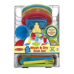 Melissa & Doug Let's Play House! Wash & Dry Dish Set  - Belly Laughs - A Children's & Maternity Boutique - Canada - 2